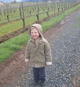 Owen Casteel Somers, walking home to his grandparents' house